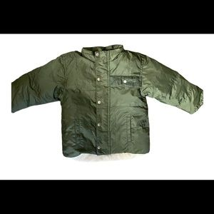 Baby Gap hunter green puffer jacket down feather